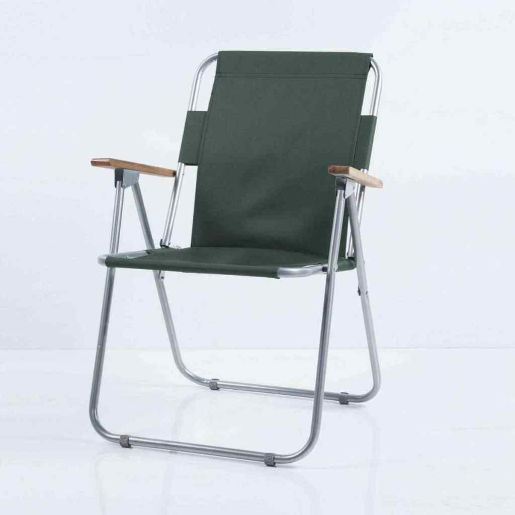 Yekta Piknik Sandalyesi Katlanabilir Ahşap Kollu Sandalye Yeşil