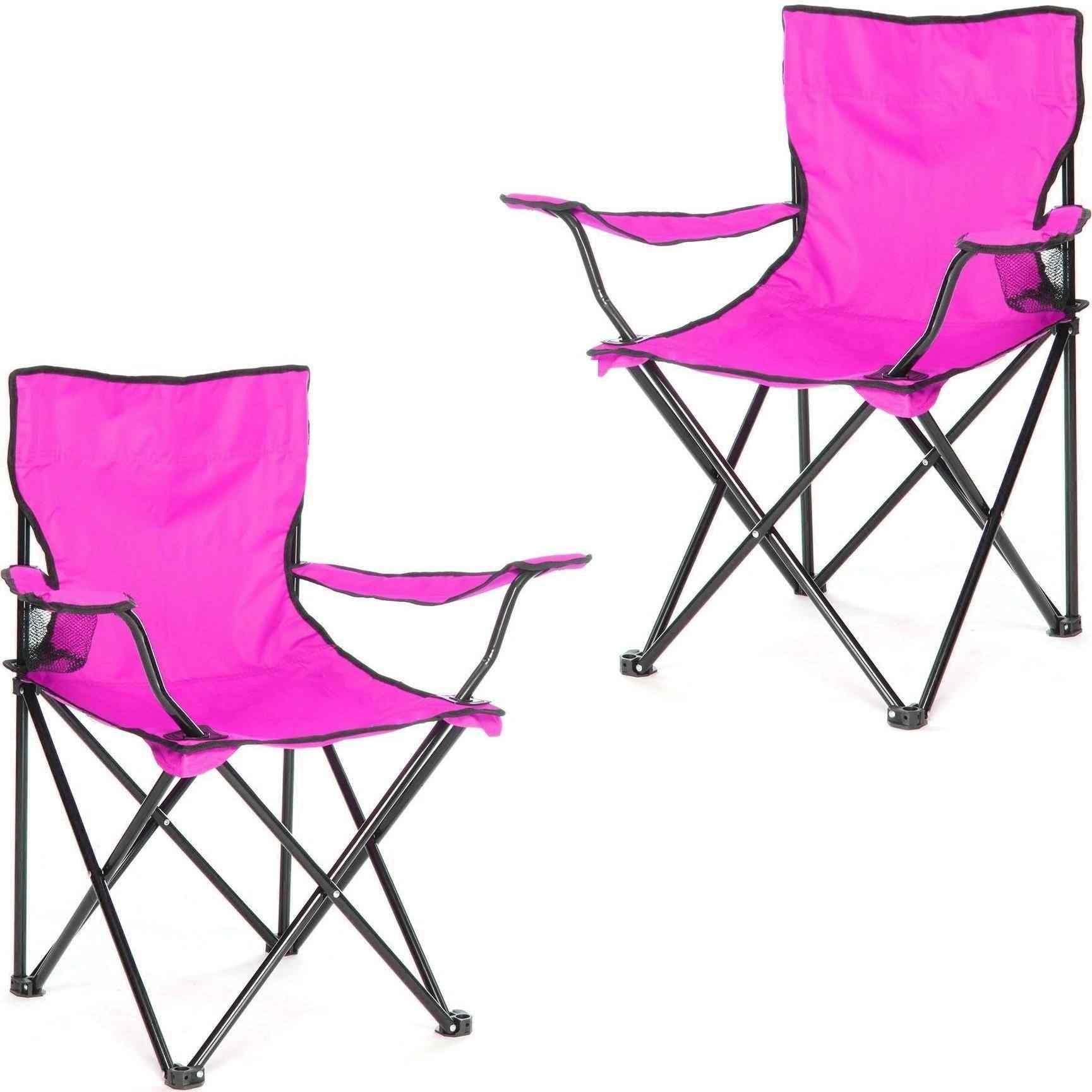 Çantalı Kamp Sandalyesi Balıkçı Plaj Piknik Koltuk Lila 2 Adet