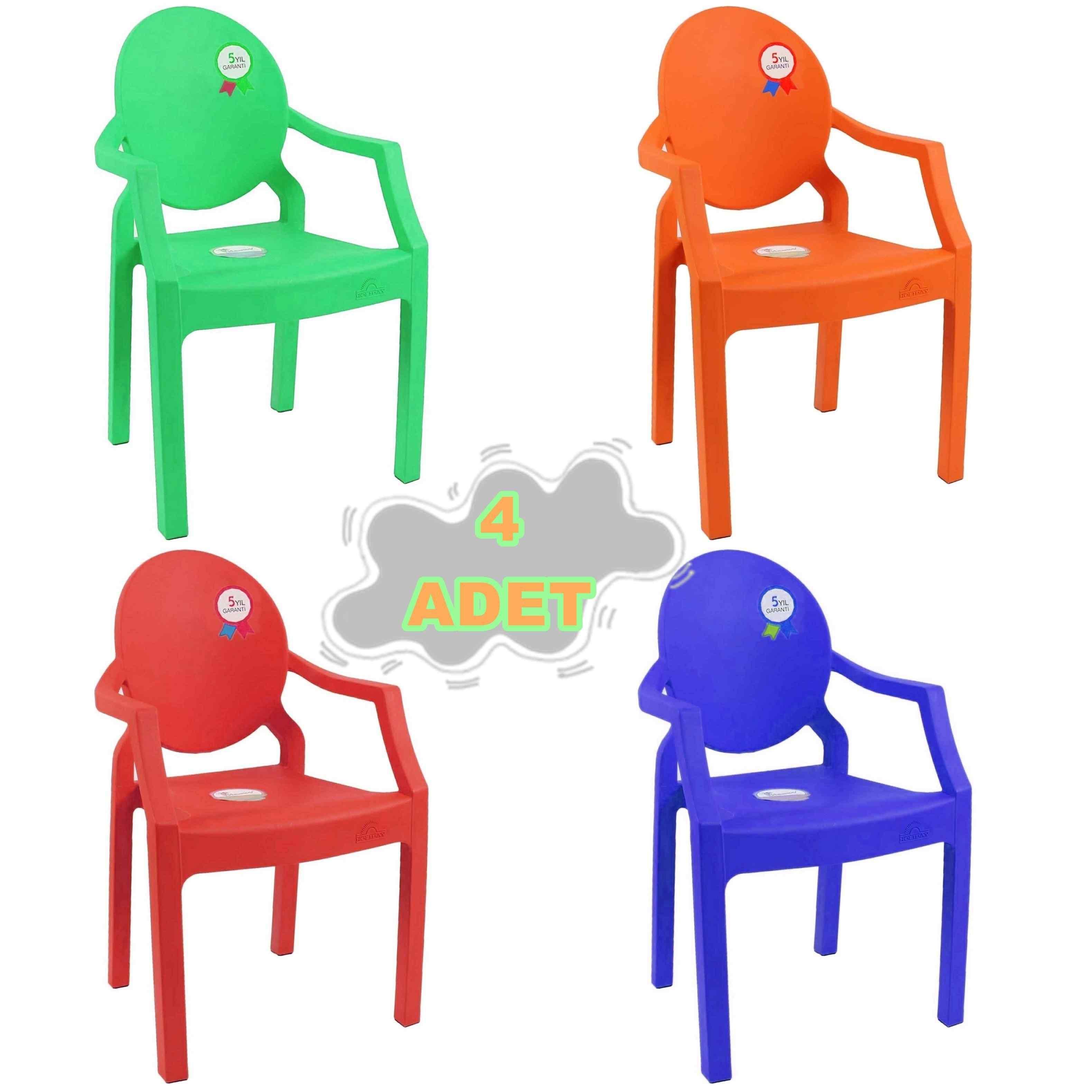 Holiday Afacan Çocuk Koltuğu Ana Sınıfı Sandalyesi 4 Lü