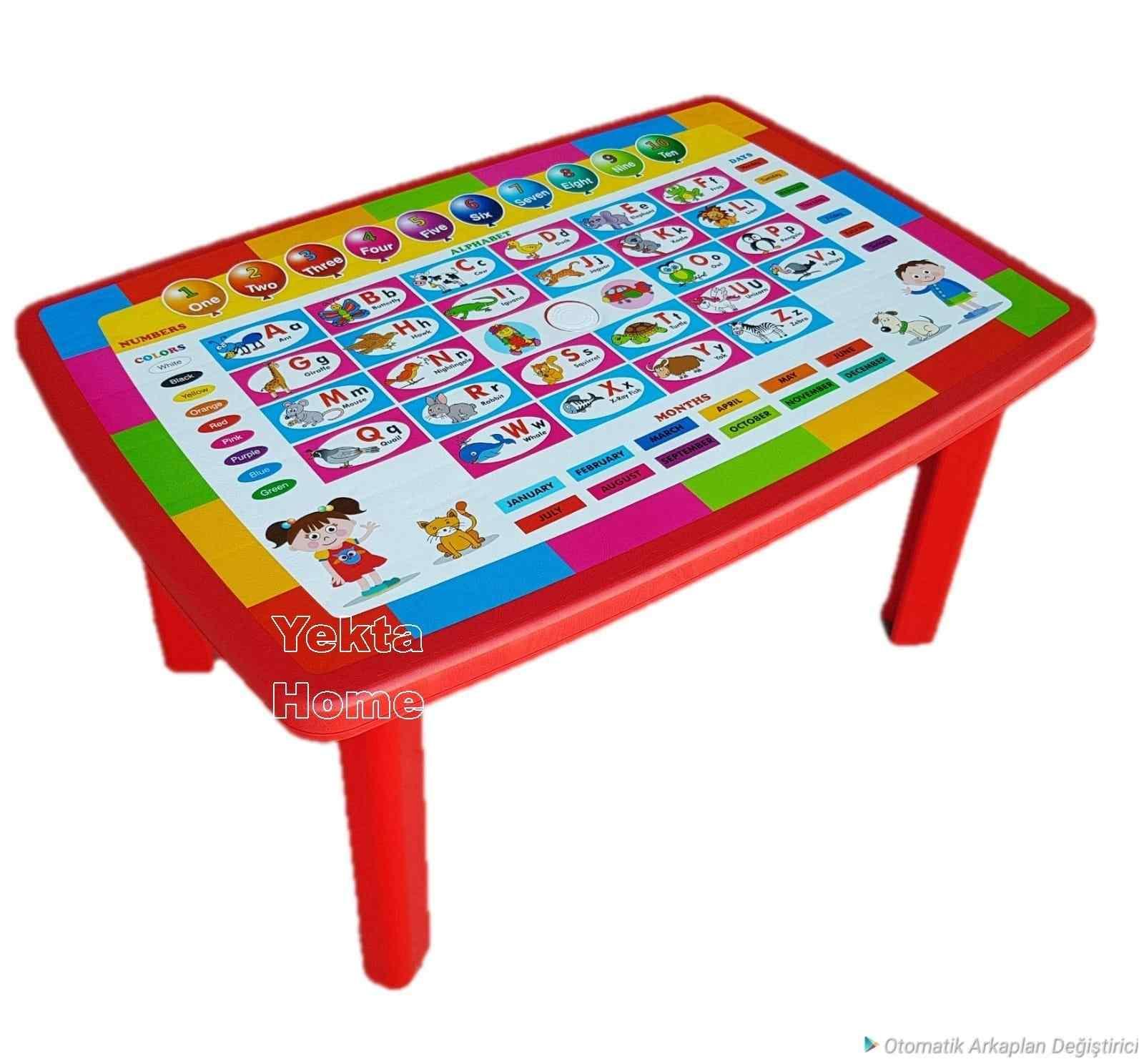 Baby Design Türkçe Eğitici Oyun Masası Çocuk Masası Okul Kreş Ana Sınıfı Masası