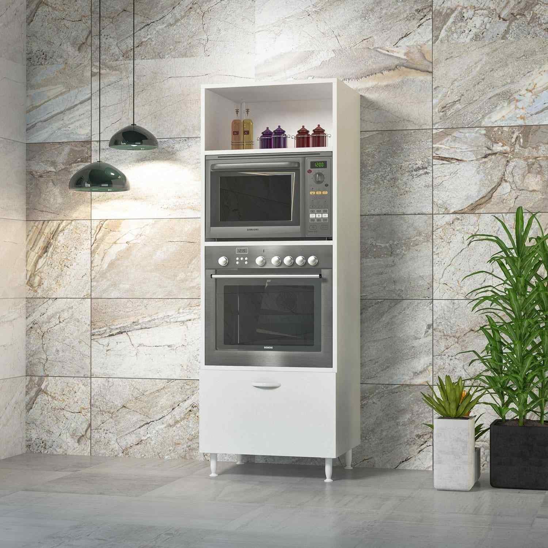 Papatya Ankastre Fırın Mikrodalga Mutfak Çok Amaçlı Dolap