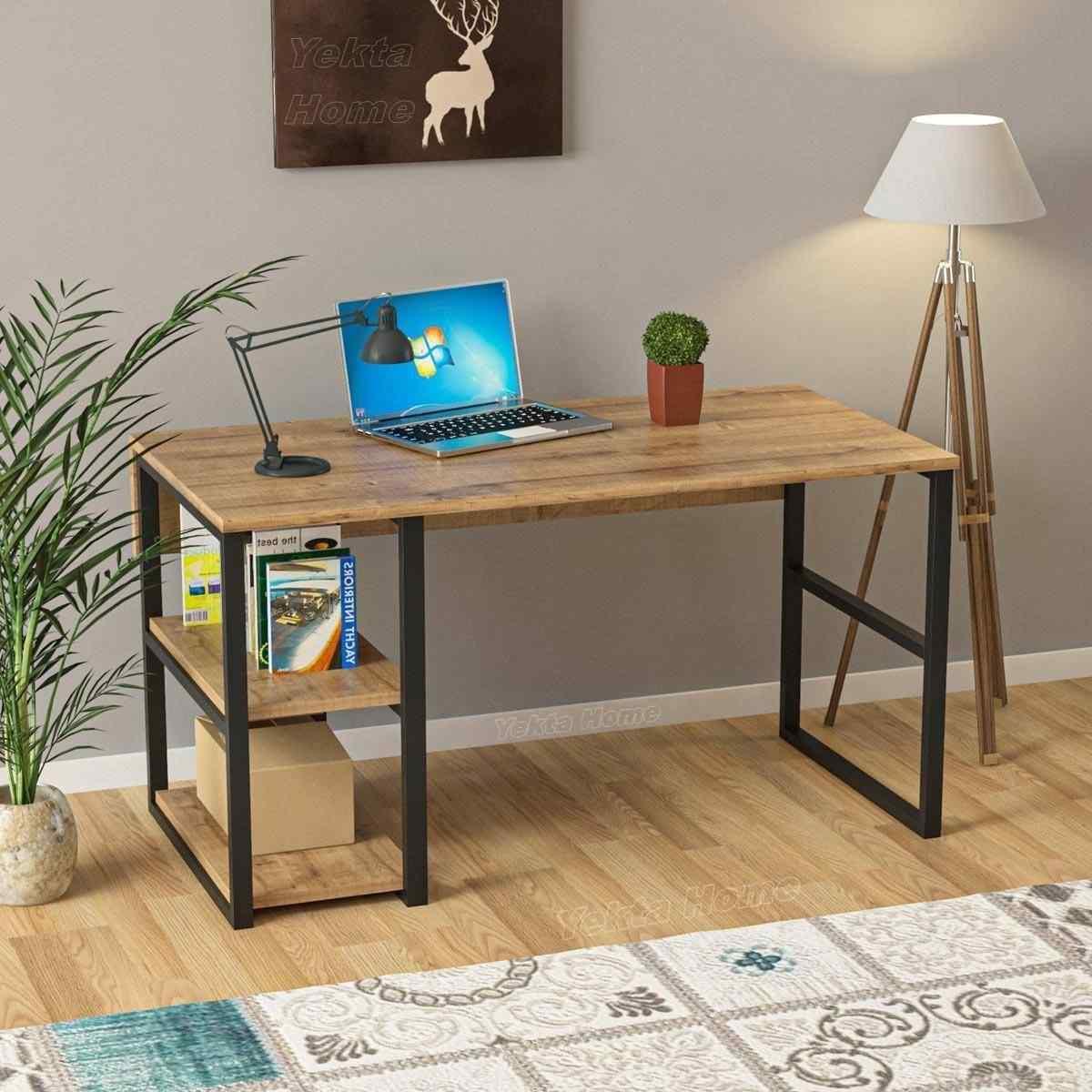 Yekta Raflı Çalışma Masası Ofis Bilgisayar Laptop Masası 45x120 cm