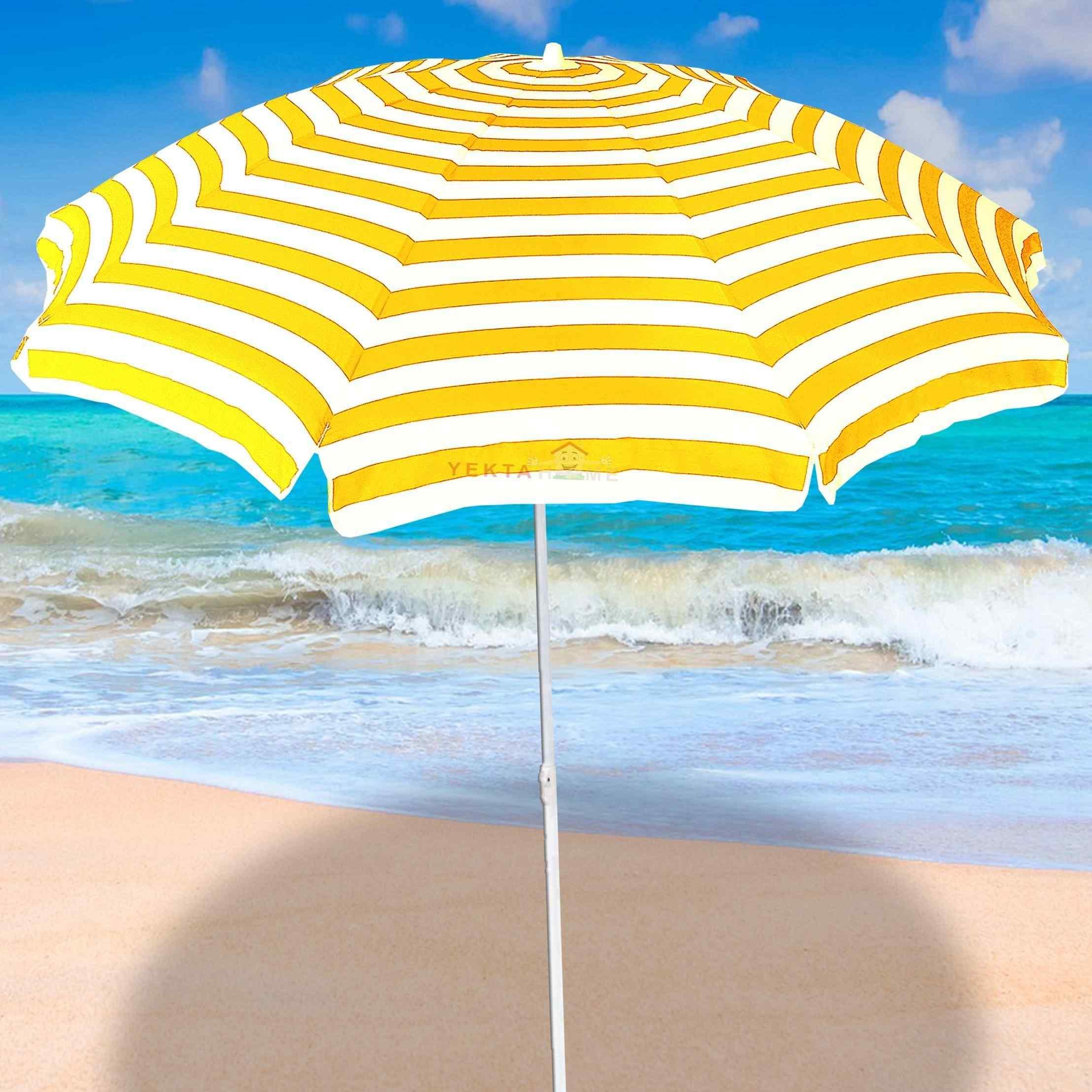 Plaj Şemsiyesi Havuz Şemsiye Bahçe Şemsiyeleri 200 cm Sarı