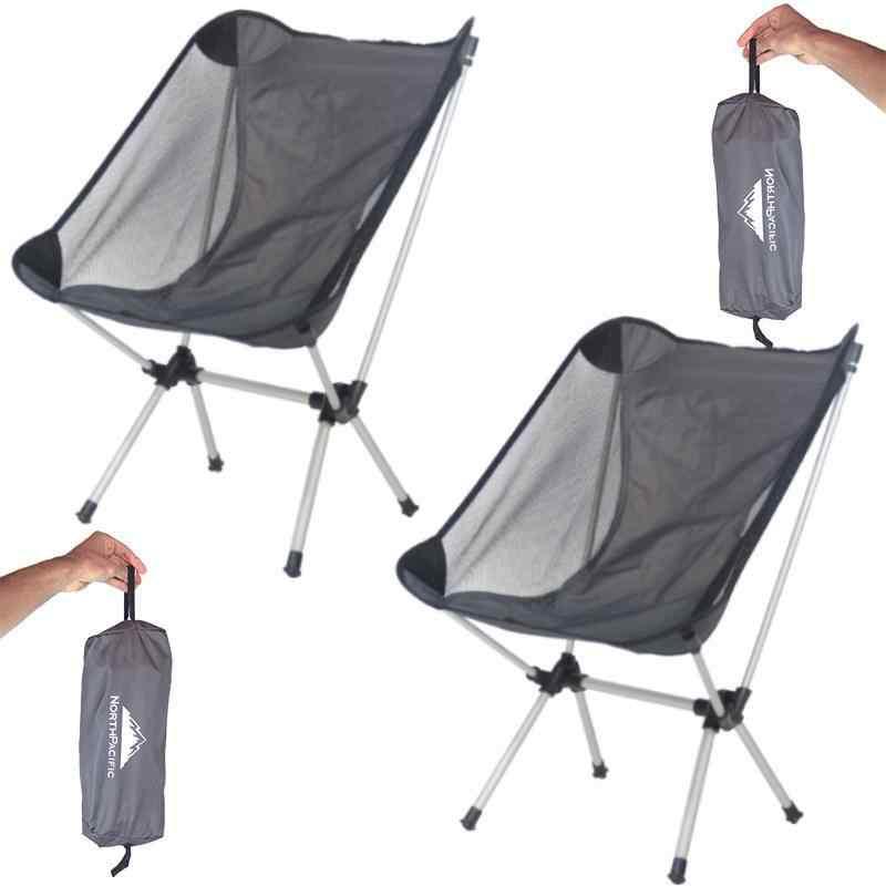 Alüminyum Kamp Sandalyesi Katlanabilir Piknik Koltuk 2 Adet