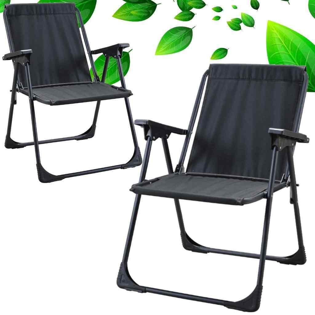Yekta Star Piknik Plaj Sandalyesi Kamp Sandalyesi Siyah 2 Adet
