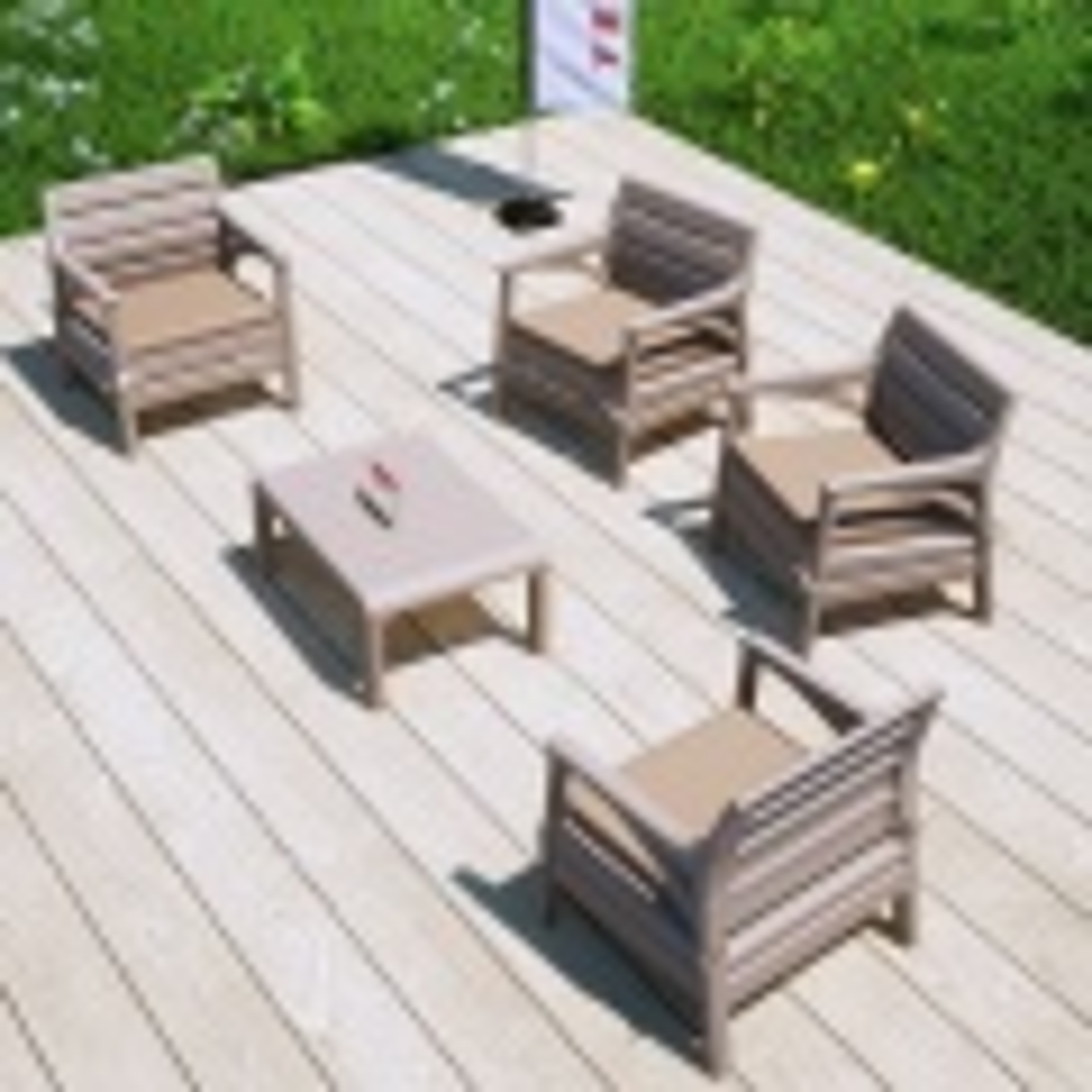 Holiday Madrid Bahçe Mobilyası Balkon Koltuk Takımı Cappucino
