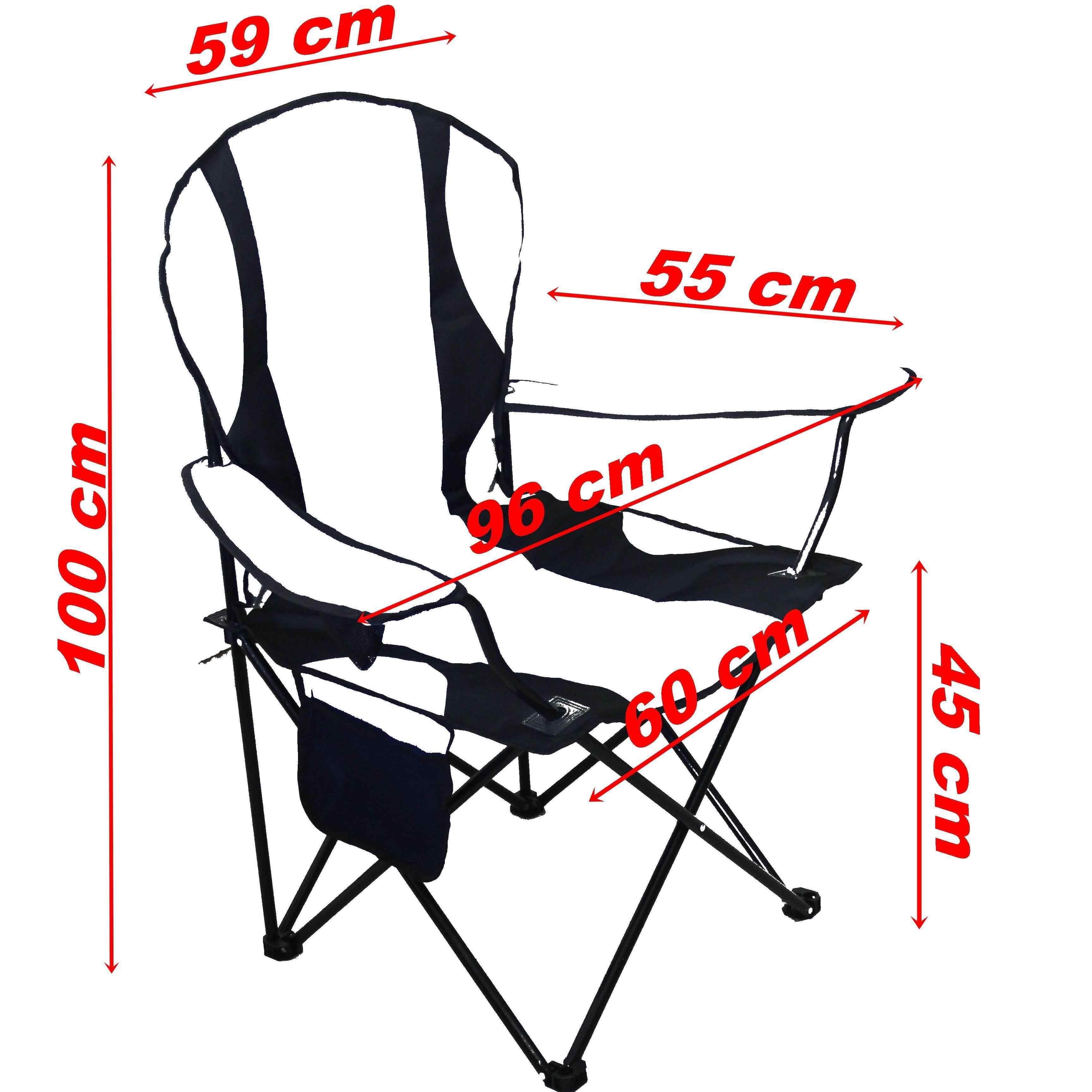 Mega XL Kamp Sandalyesi Büyük Boy Sandalye Gri 2 Adet