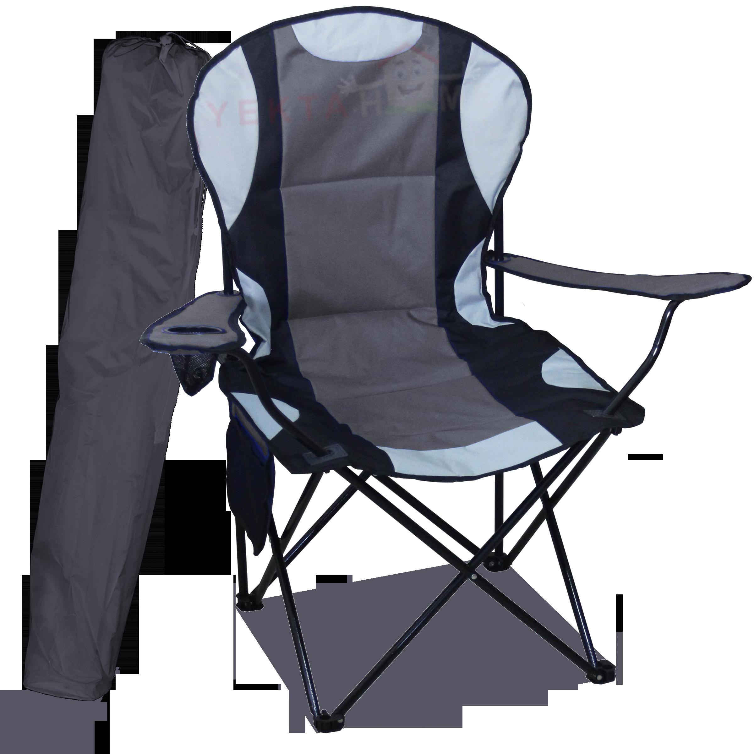 Megatex Kamp Seti Büyük Kamp Sandalyesi + Bez Masa 2+1 Gri