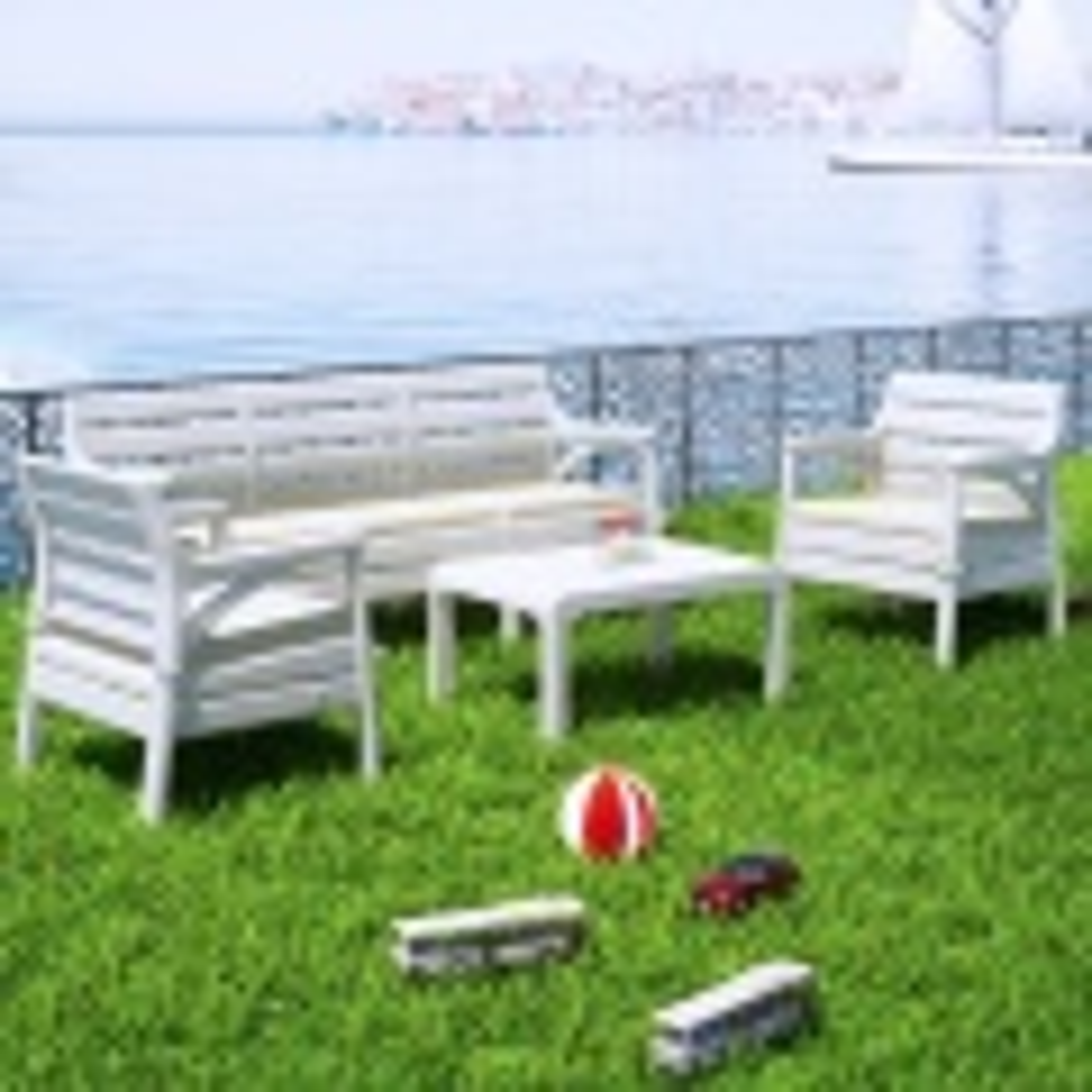 Holiday Hawai Oturma Grubu Bahçe Ve Balkon Koltuk Takımı Beyaz