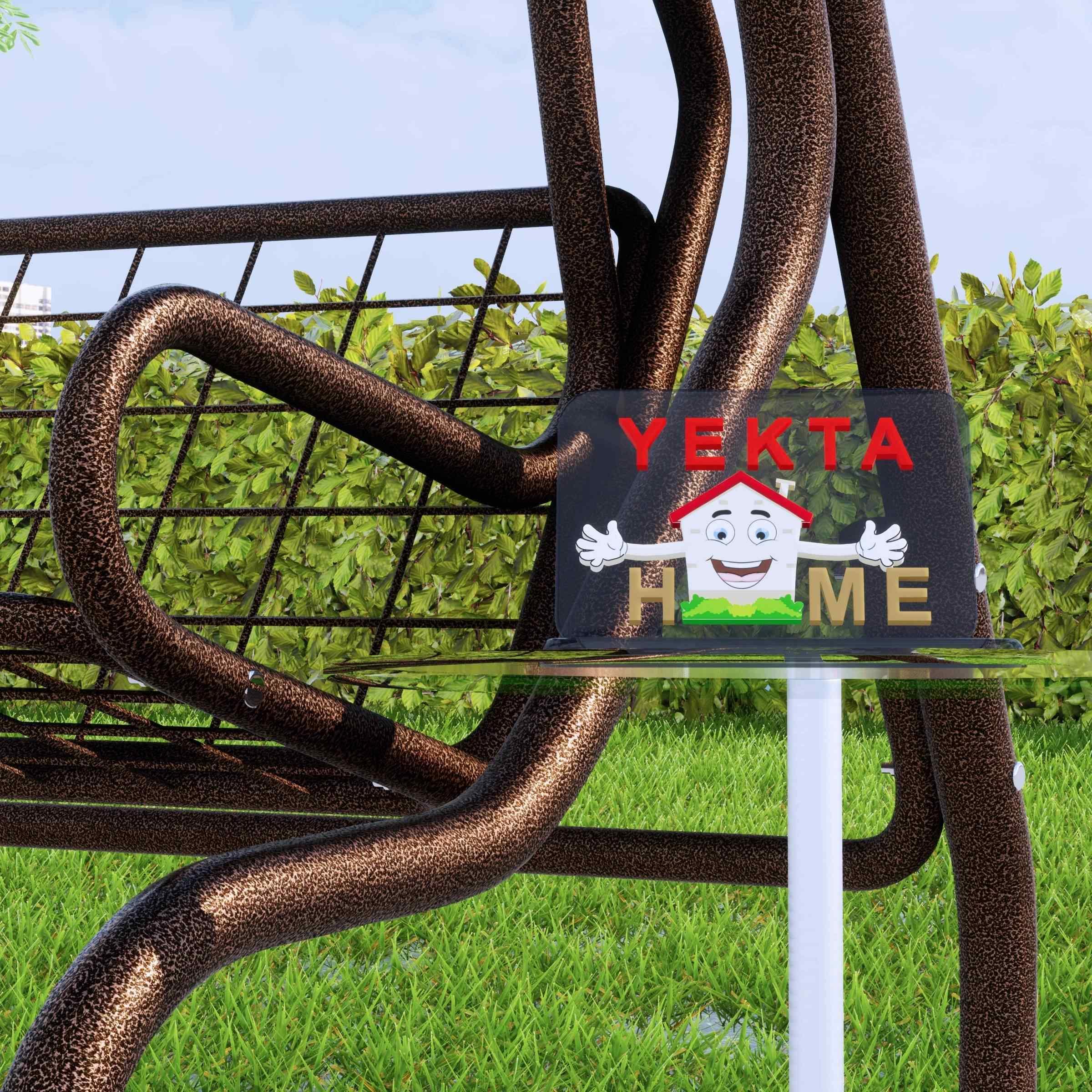 Yekta Kahve 3 Kişilik Bahçe Salıncağı Balkon Salıncak 200 cm