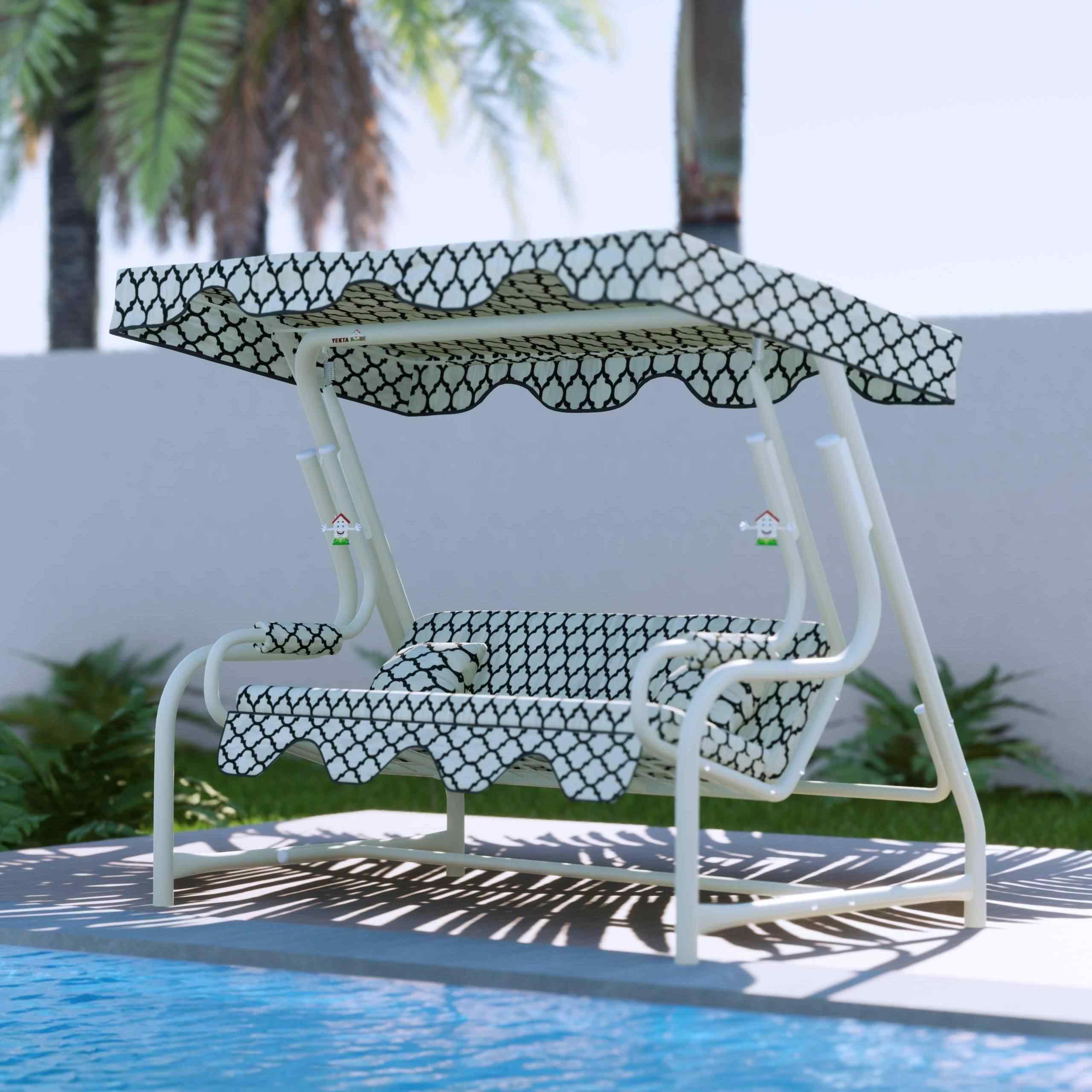 Maystro Alaçatı 3 Kişilik Bahçe Salıncağı Balkon Salıncak 200 cm