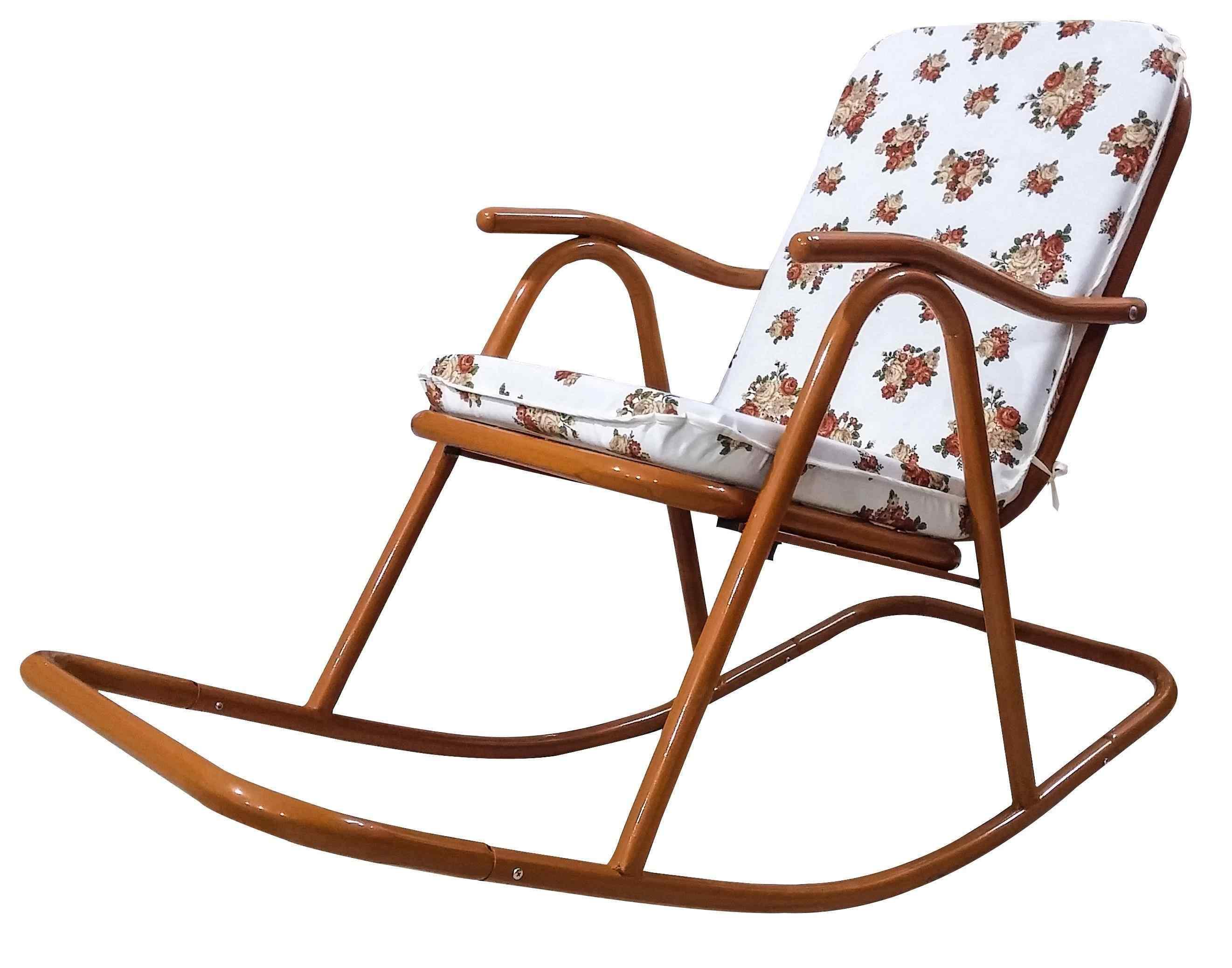 Yekta Alaska Metal Minderli Sallanır Baba Sandalye Bambu P156
