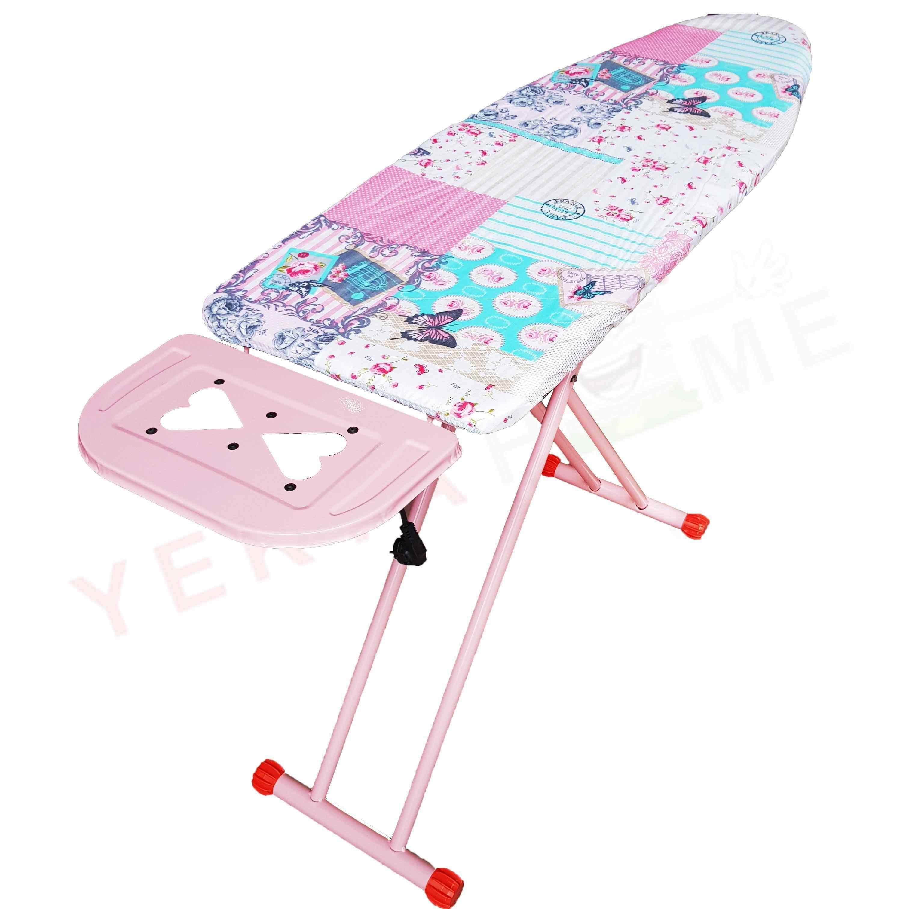 Daily Pink Ütü Masası Pembe Boyalı Ütü Masa Büyük 42 x 125 cm