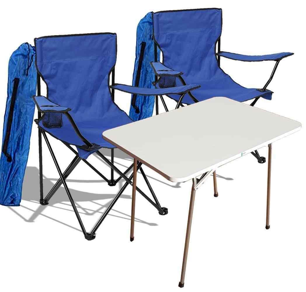 Yekta Piknik Masa ve Kamp Sandalye Seti Mavi KM2 1