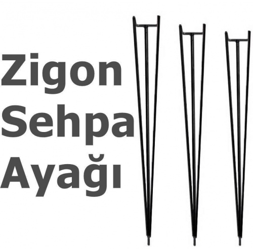 Metal Sehpa Ayağı Zigon Fiskos Ayağı Metal Firkete Ayak 54 cm