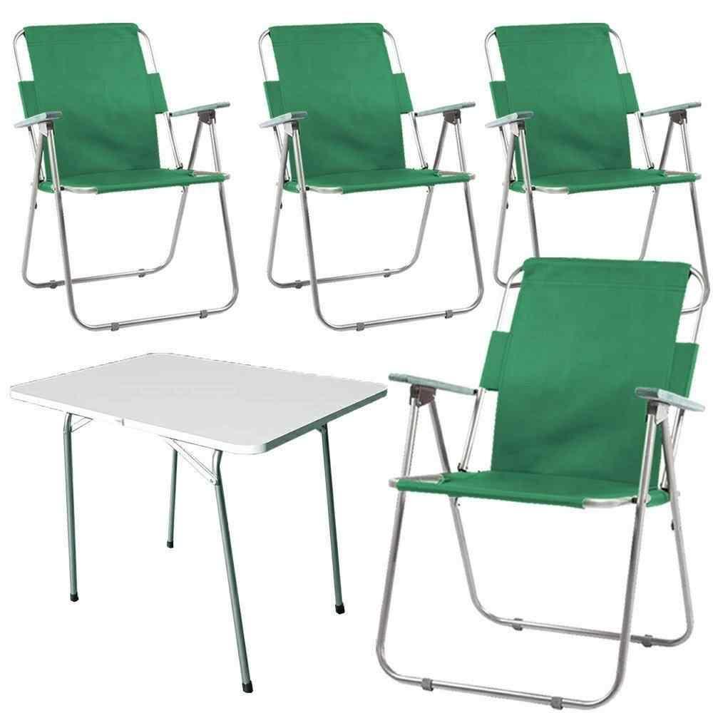 Yekta Piknik Masa ve Piknik Sandalye Takımı Yeşil PY4+1