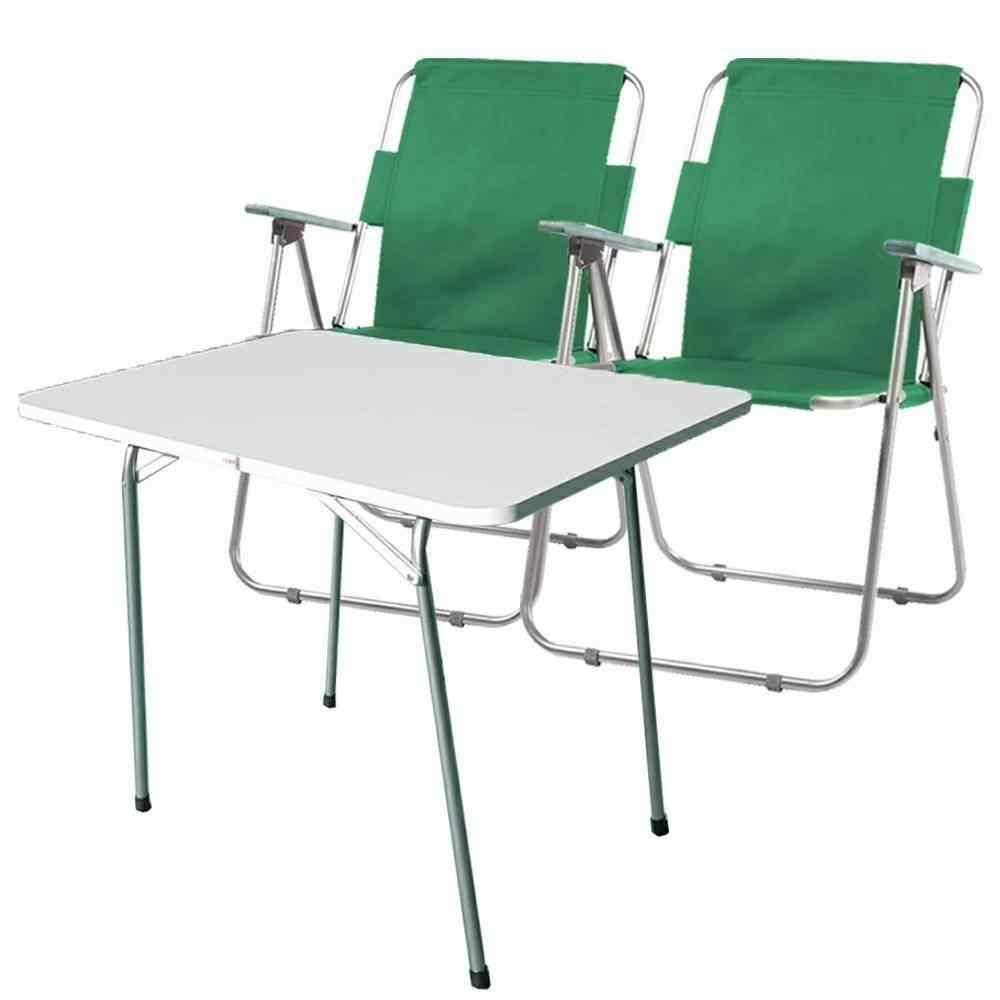 Yekta Piknik Masa ve Piknik Sandalyesi Plaj Deniz Takımı Yeşil P