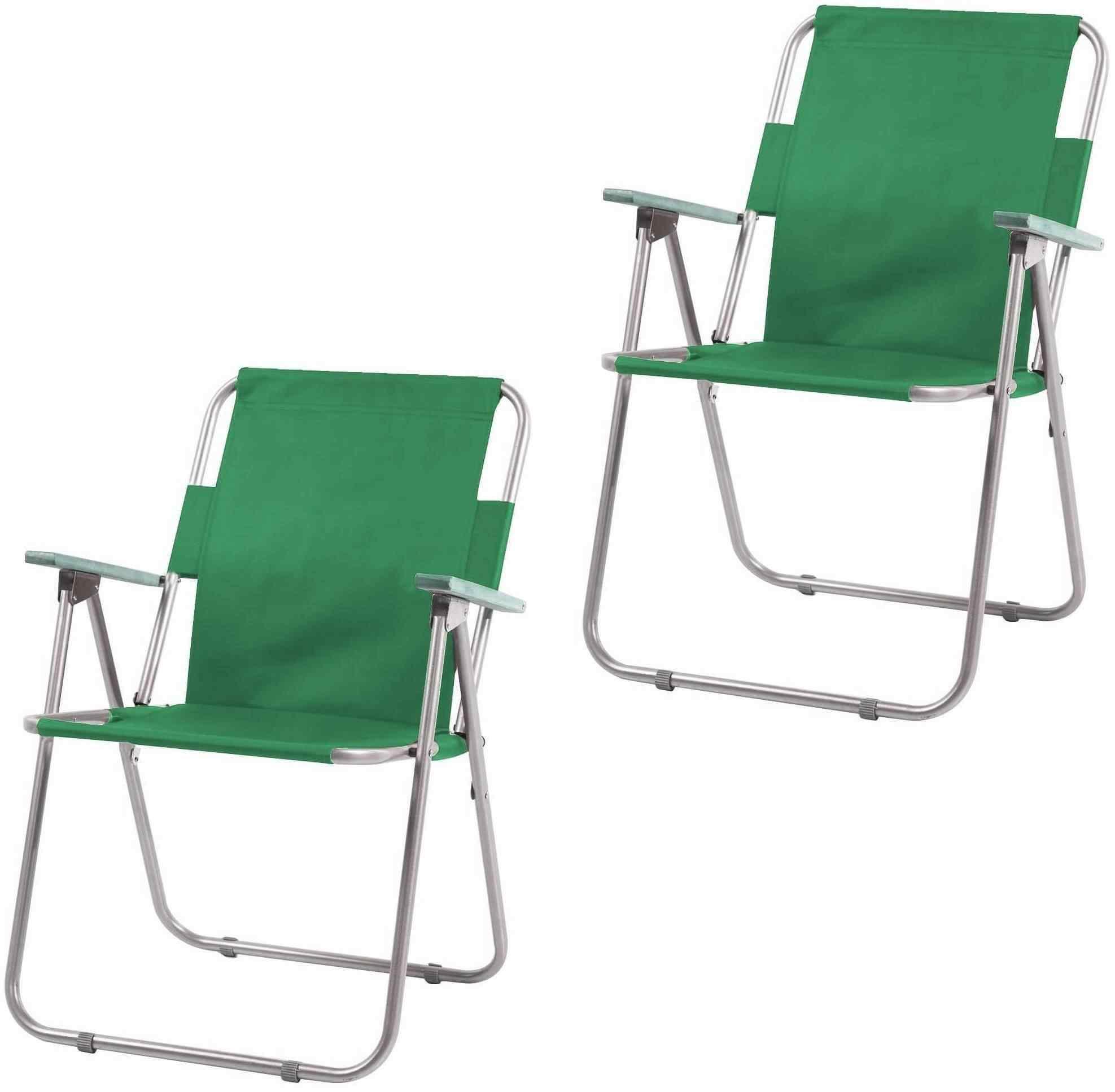 İbiza Katlanır Piknik Sandalyesi Plaj Kamp Sandalye Yeşil 2 Adet