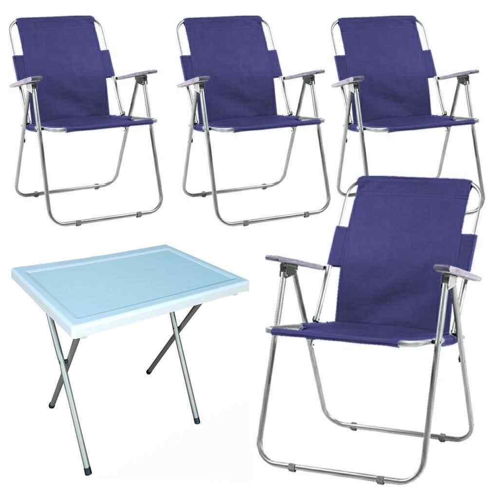 Vesto Katlanabilir Piknik Sandalyesi Ve Portatif Masa 4+1 Lacive