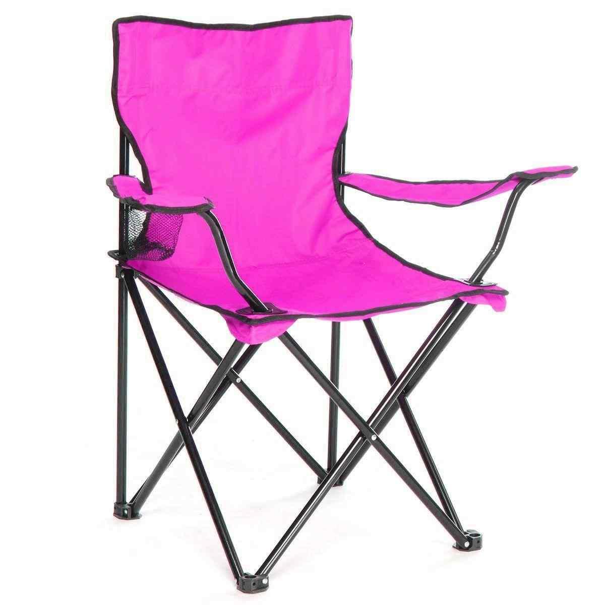 Çantalı Kamp Sandalyesi Balıkçı Plaj Piknik Koltuk Lila