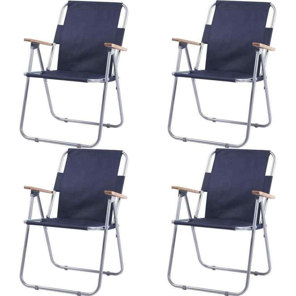 İbiza Katlanır Piknik Sandalyesi Plaj Kamp Sandalye Ahşap Kollu