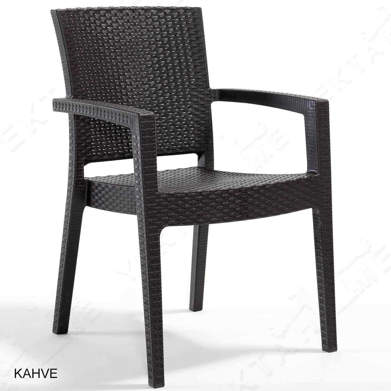 Novussi Paris Rattan Koltuk Bahçe Sandalyesi Kahverengi