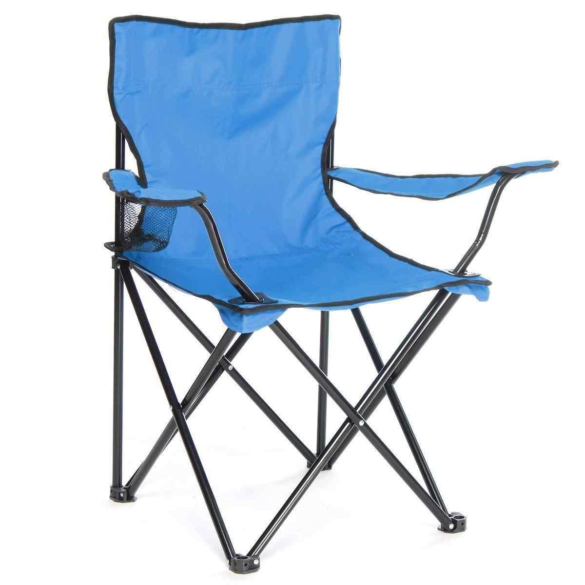 Çantalı Kamp Sandalyesi Balıkçı Plaj Piknik Koltuk Mavi