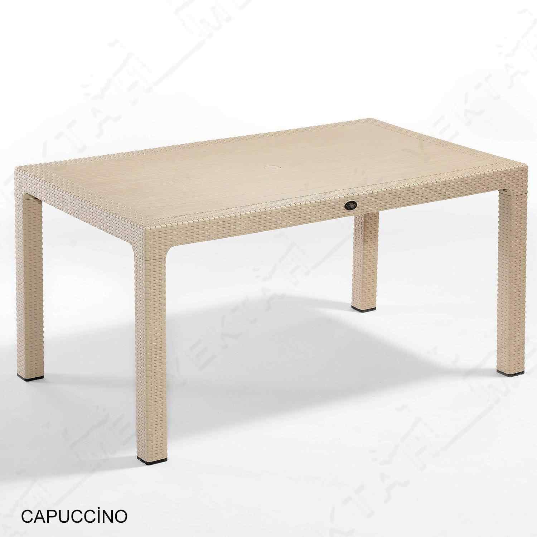 Novussi Tropic 6 Kişilik Camlı Masa Bahçe ve Yemek Masası TR3C-M
