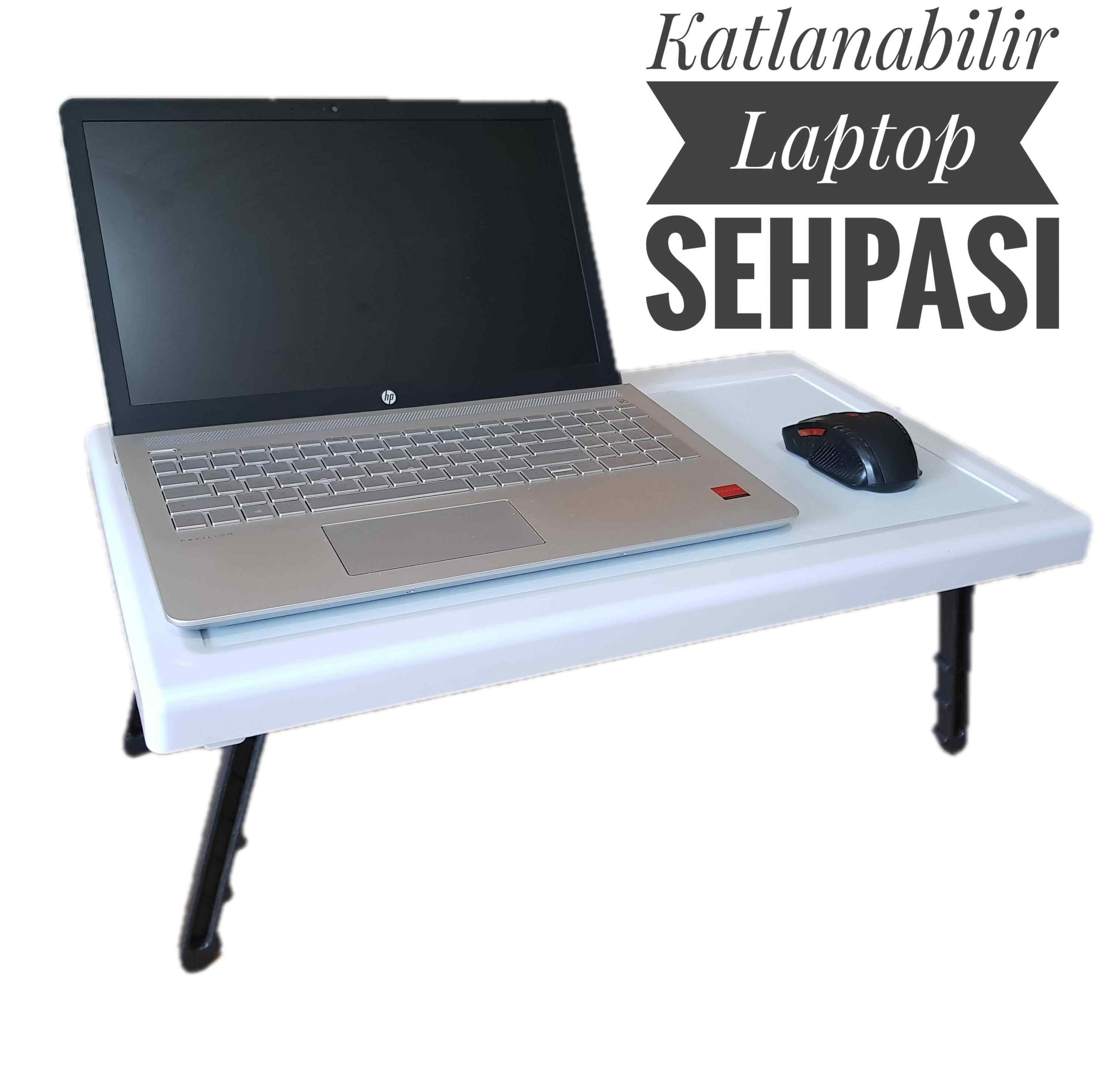Portatif Laptop Sehpası Katlanır Ayaklı Pratik Sehpa Masa