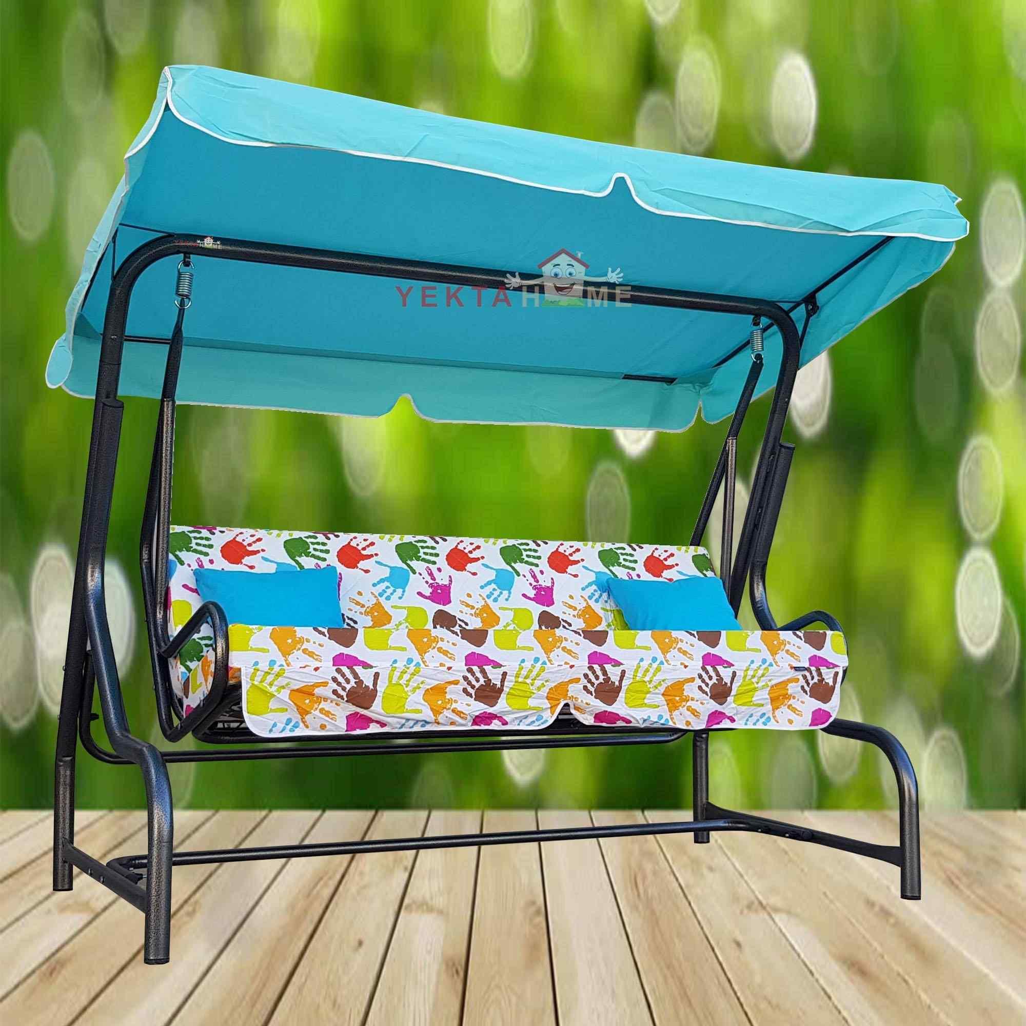 Yekta Elizi 3 Kişilik Bahçe Salıncağı Balkon Teras Salıncak 200 cm