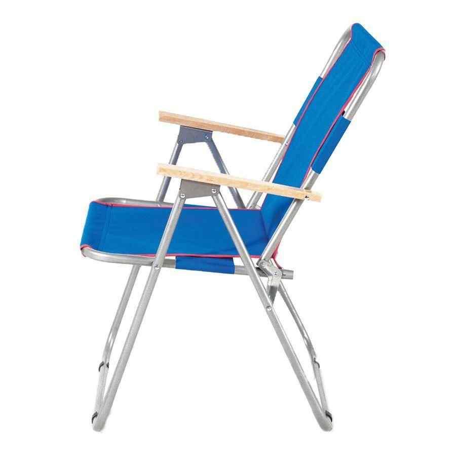 İbiza Katlanır Piknik Sandalyesi Plaj Kamp Sandalye Mavi