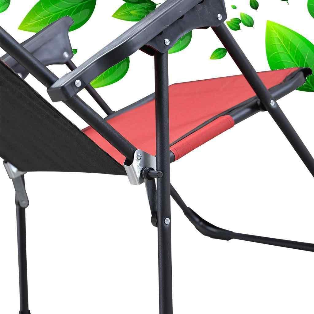 Yekta Star Piknik Plaj Sandalyesi Kamp Sandalyesi Kırmızı 2 Adet