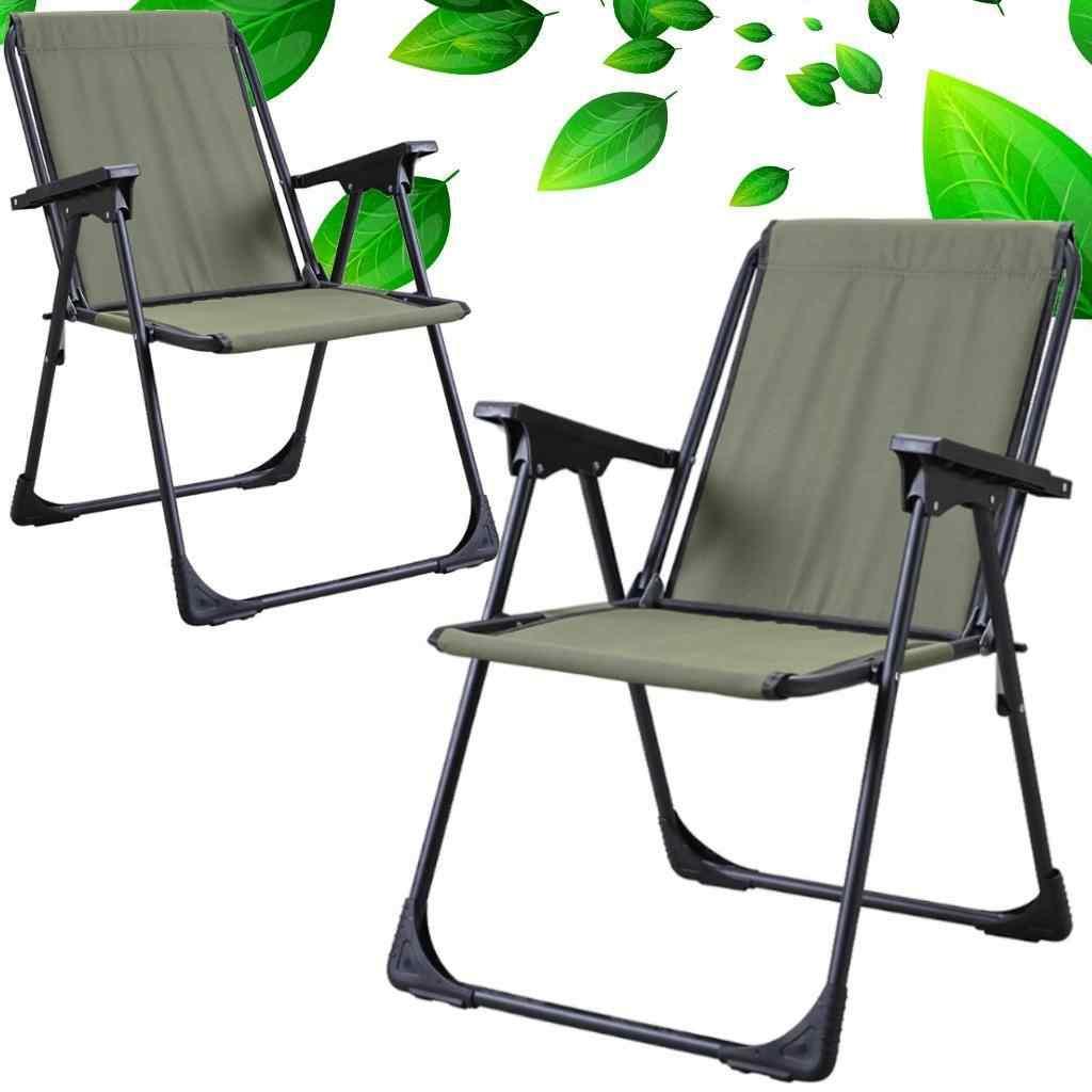 Starlüx Piknik Sandalye Masa Seti 42x60 Masa Ve 2li Kamp Sandalyesi Yeşil