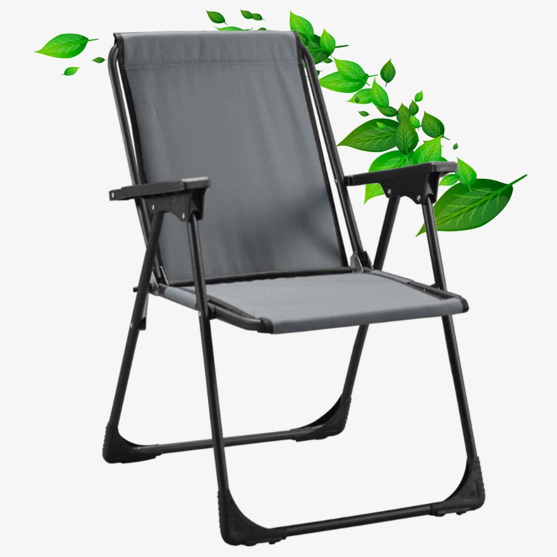 Star Katlanır Koltuk Piknik Plaj Sandalyesi Kamp Sandalyesi Gri