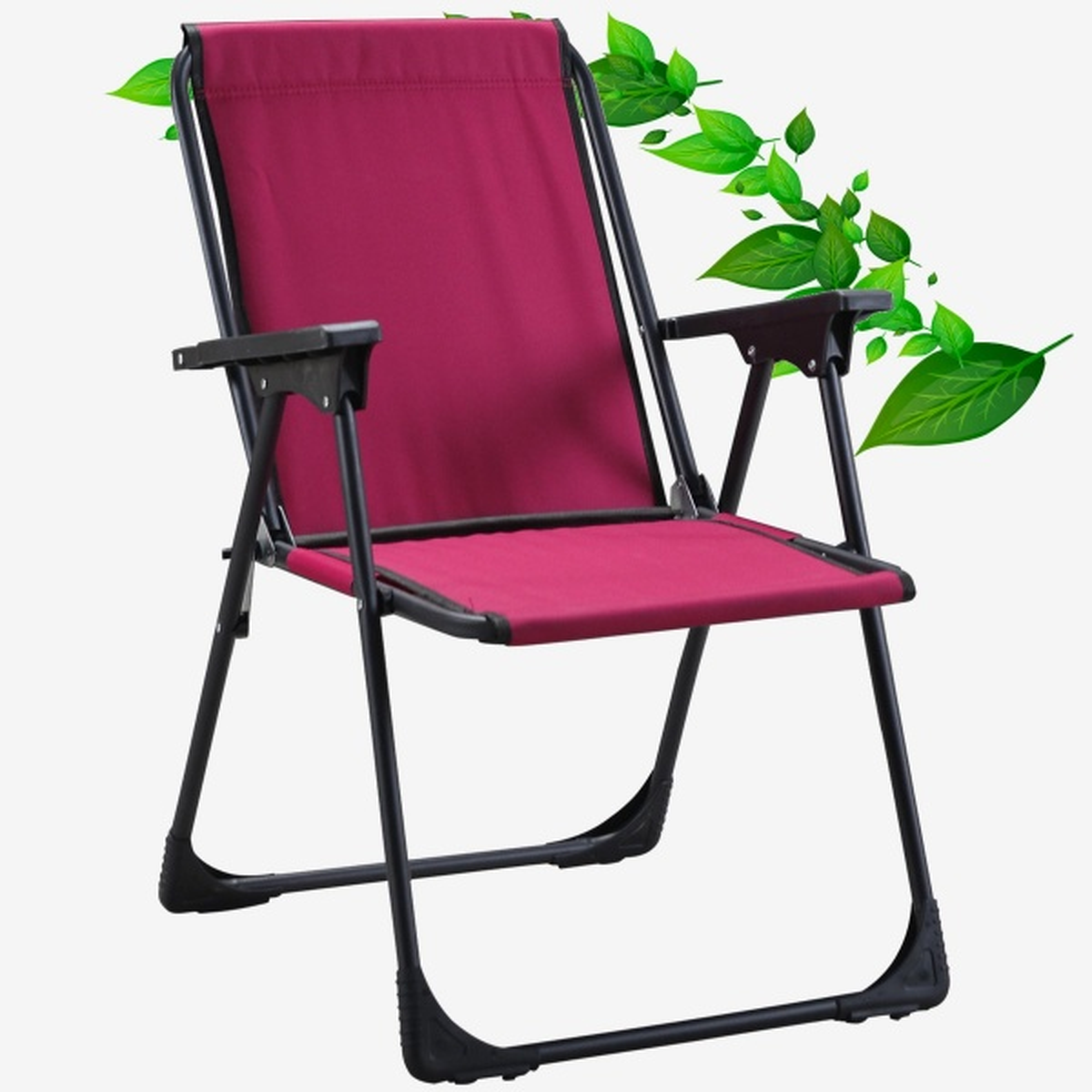 Starlüx Piknik Sandalye Masa Seti 42x60 Masa Ve 2li Kamp Sandalyesi Bordo