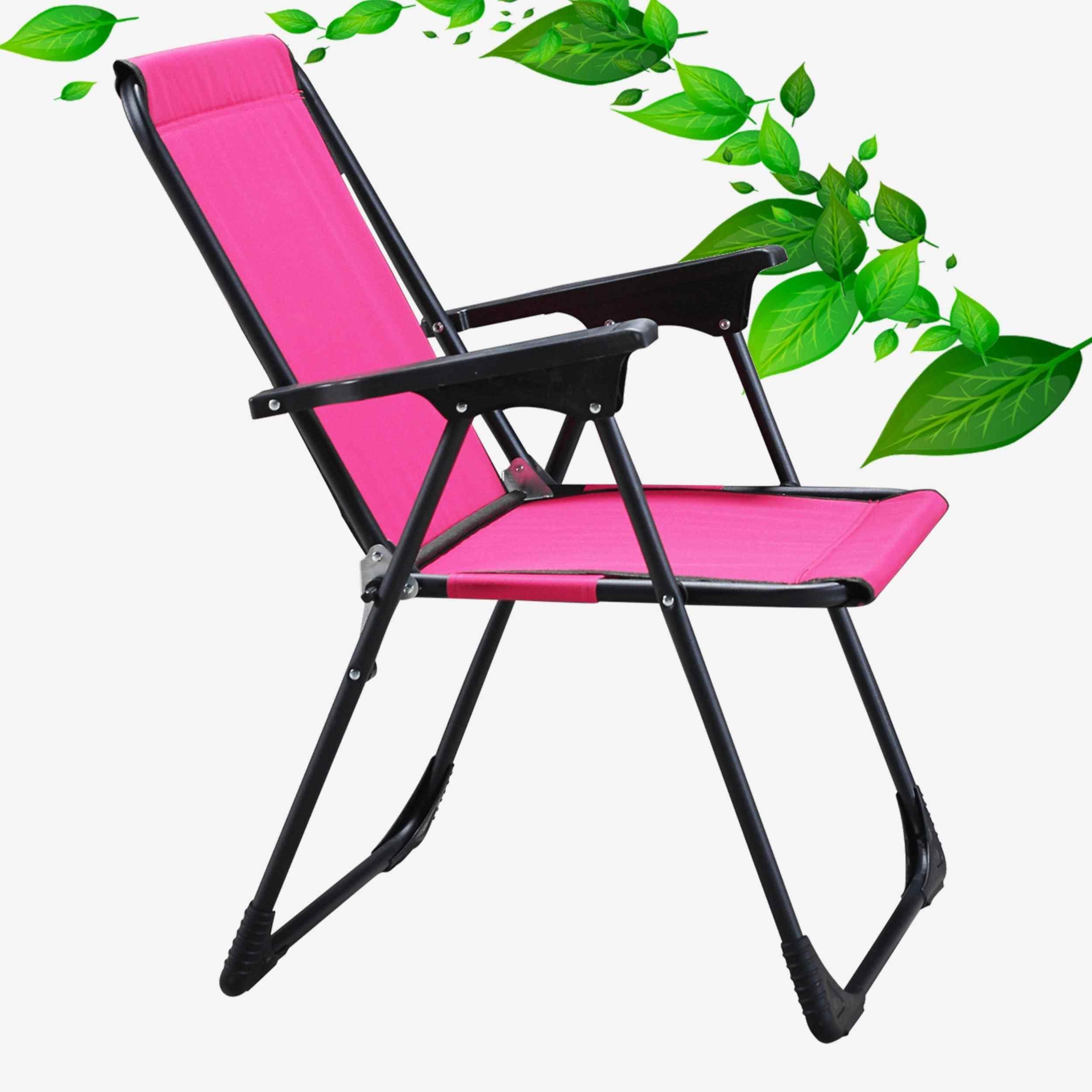 Star Katlanır Koltuk Piknik Plaj Sandalyesi Kamp Sandalyesi Pembe