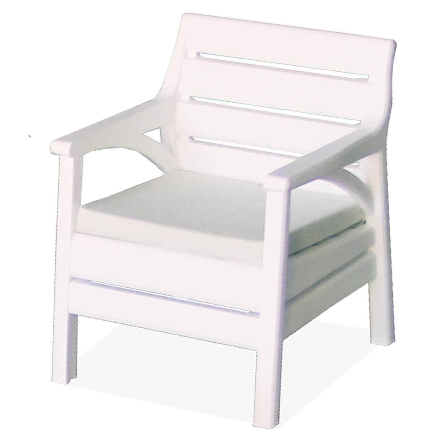 Holiday Madrid Bahçe Mobilyası Oturma Grubu Balkon Koltuk Takımı Beyaz