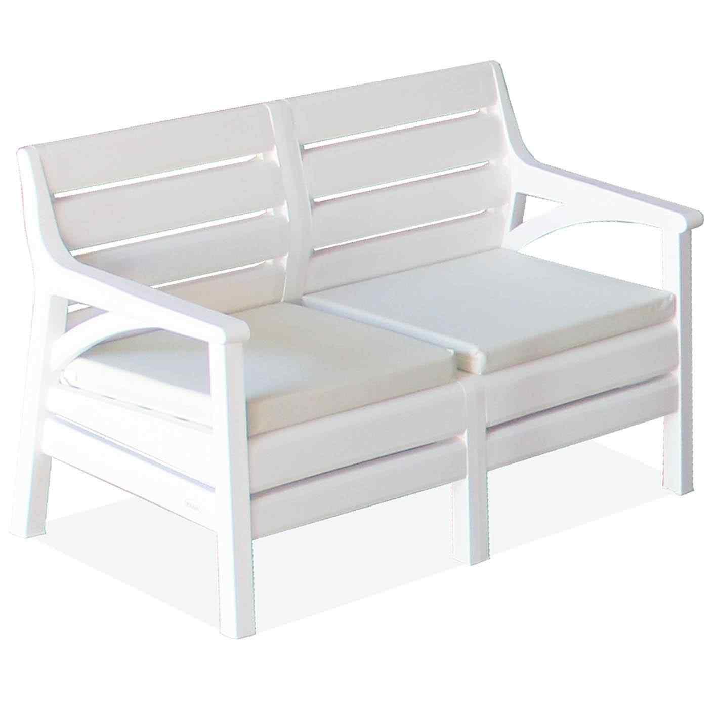 Holiday Osaka Bahçe Mobilyası Oturma Grubu Balkon Koltuk Takımı Beyaz