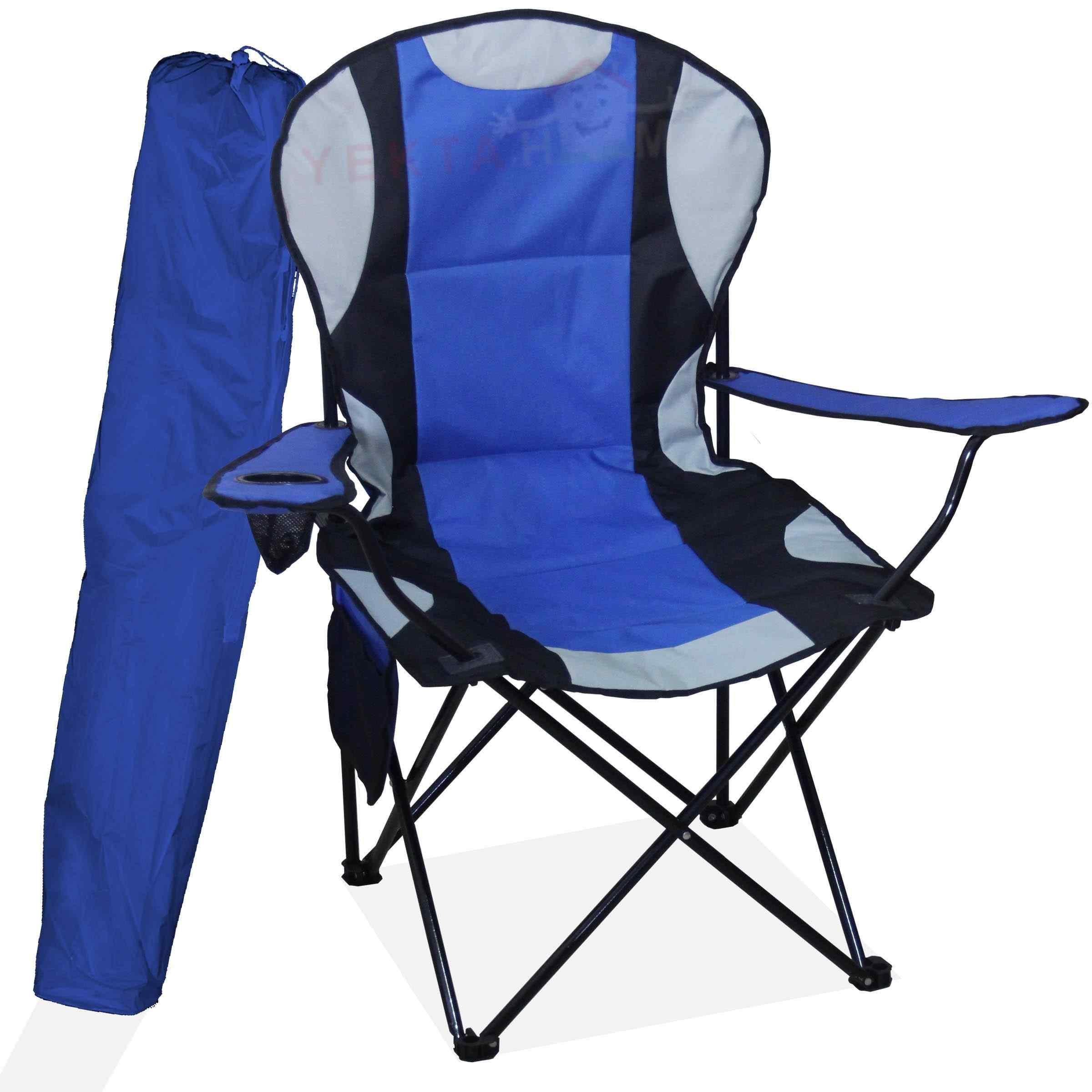 Megatex Kamp Seti Büyük Kamp Sandalyesi + Bez Masa 2+1 Mavi