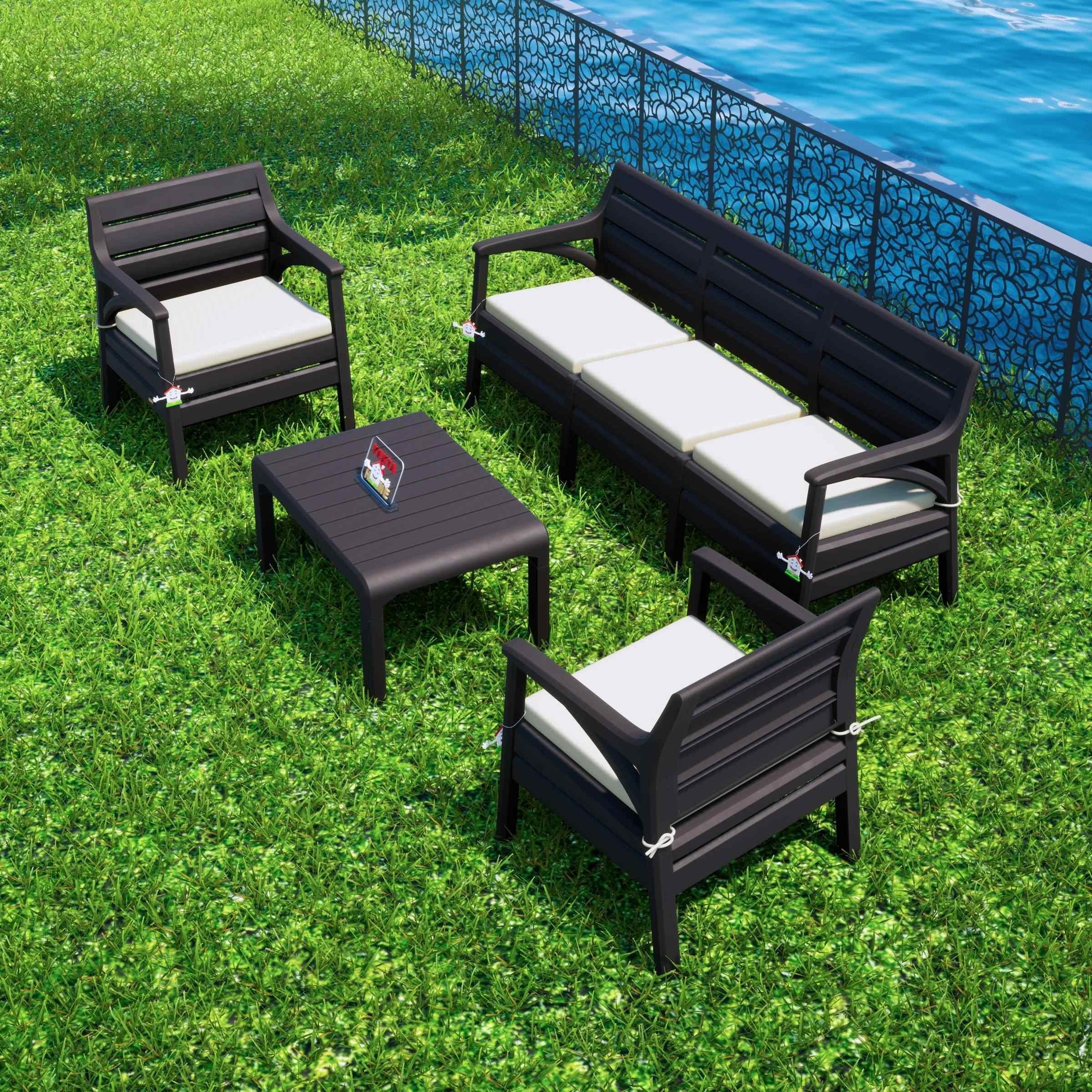 Holiday Hawai Oturma Grubu Bahçe Ve Balkon Koltuk Takımı Kahverengi