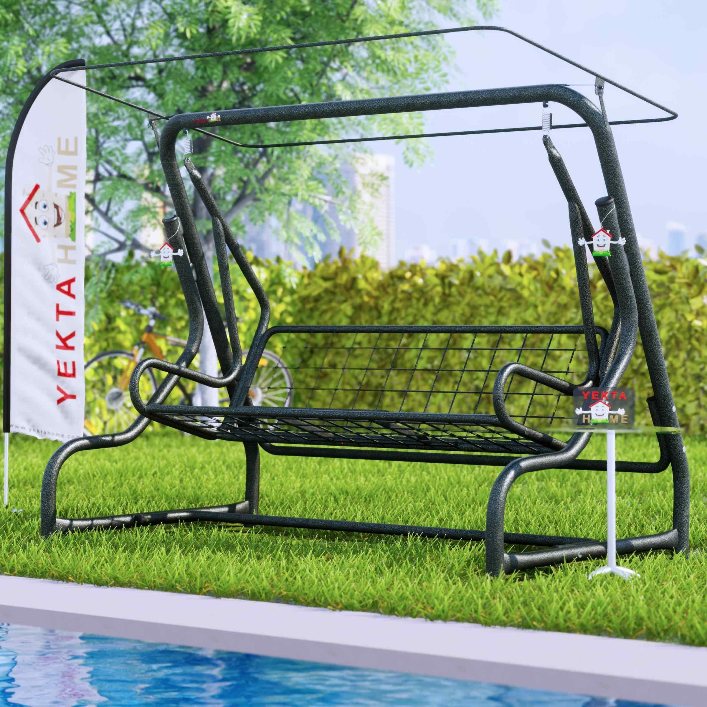Yekta Çandarlı 3 Kişilik Bahçe Salıncağı Balkon Teras Salıncak 200 cm